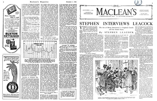 Article Preview: STEPHEN INTERVIEWS LEACOCK, December 1921 | Maclean's