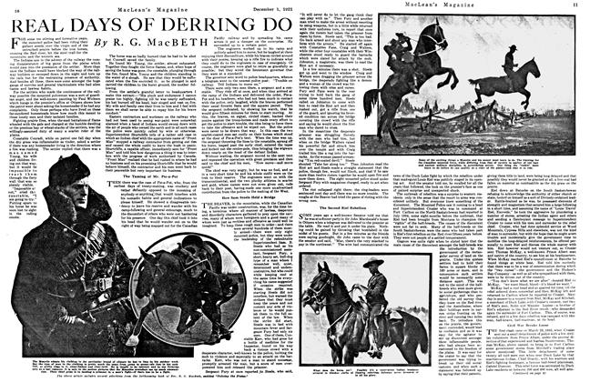 Article Preview: REAL DAYS OF DERRING DO, December 1921 | Maclean's