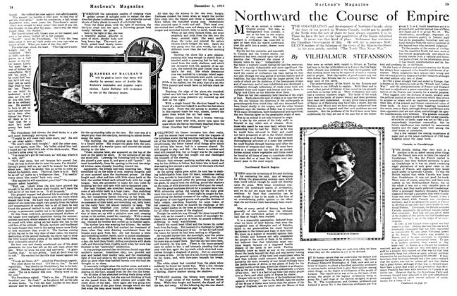 Article Preview: Northward the Course of Empire, December 1921 | Maclean's