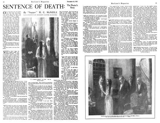 Article Preview: SENTENCE OF DEATH:, December 1921 | Maclean's