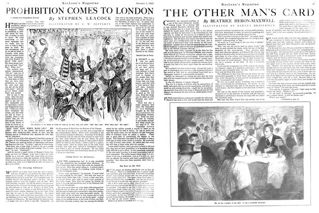 Article Preview: THE OTHER MAN'S CARD, January 1922 | Maclean's