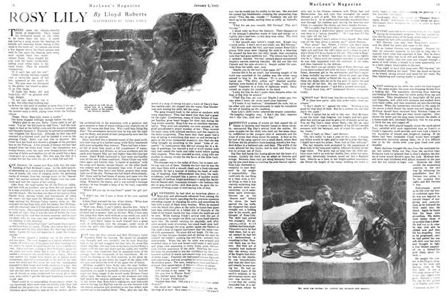 Article Preview: ROSY LILY, January 1922 | Maclean's