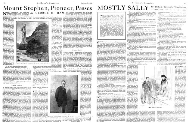 Article Preview: Mount Stephen, Pioneer, Passes, January 1922 | Maclean's