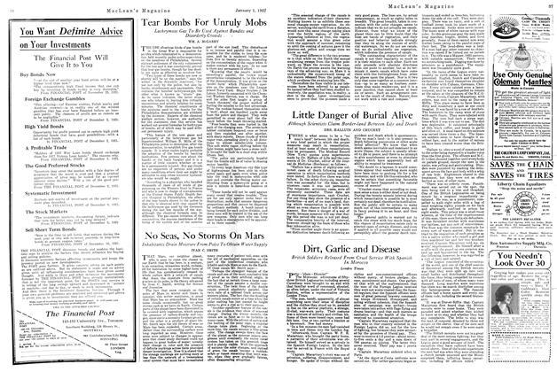 Article Preview: Dirt, Garlic and Disease, January 1922 | Maclean's