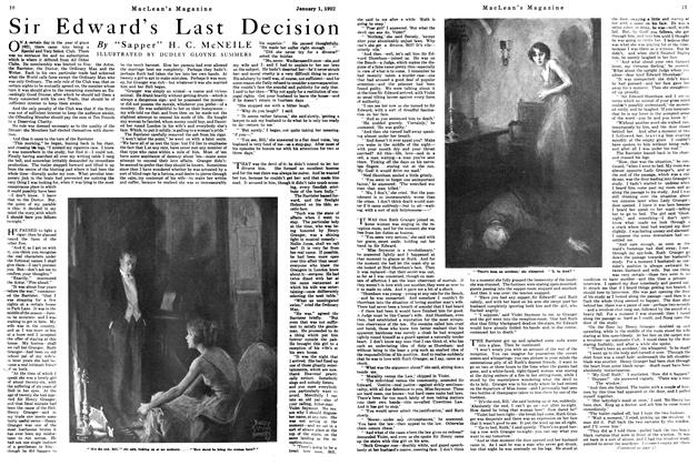 Article Preview: Sir Edward's Last Decision, January 1922 | Maclean's