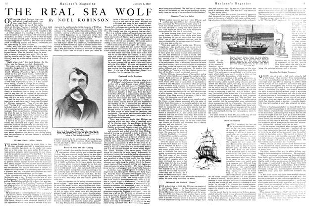 Article Preview: THE REAL SEA WOLF, January 1922 | Maclean's