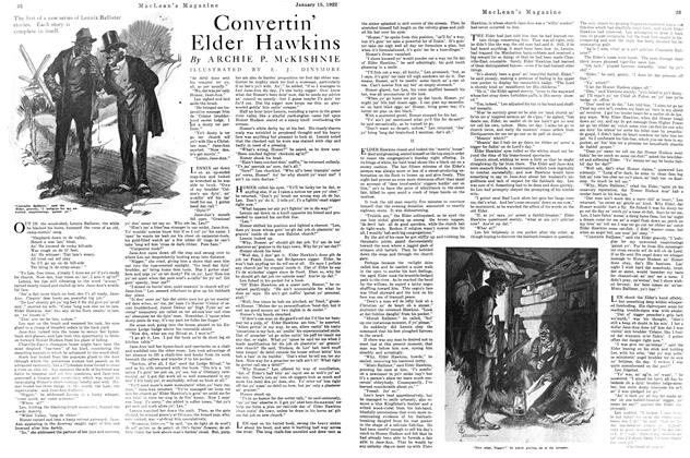 Article Preview: Convertin' Elder Hawkins, January 1922 | Maclean's