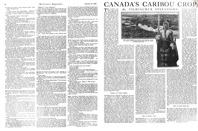 Article Preview: CANADA'S CARIBOU CROP, January 1922 | Maclean's