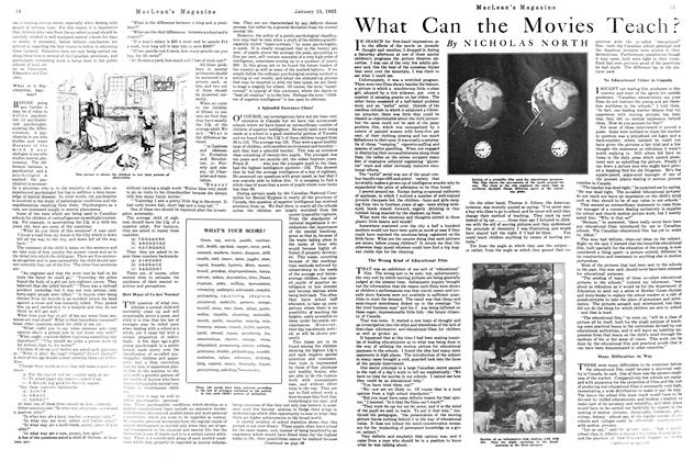Article Preview: What Can the Movies Teach?, January 1922 | Maclean's