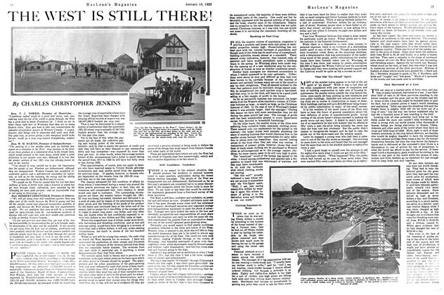 Article Preview: THE WEST IS STILL THERE!, January 1922 | Maclean's