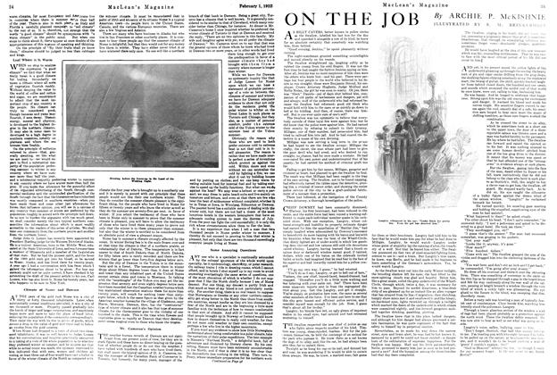 Article Preview: ON THE JOB, FEBRUARY 1ST 1922 1922 | Maclean's