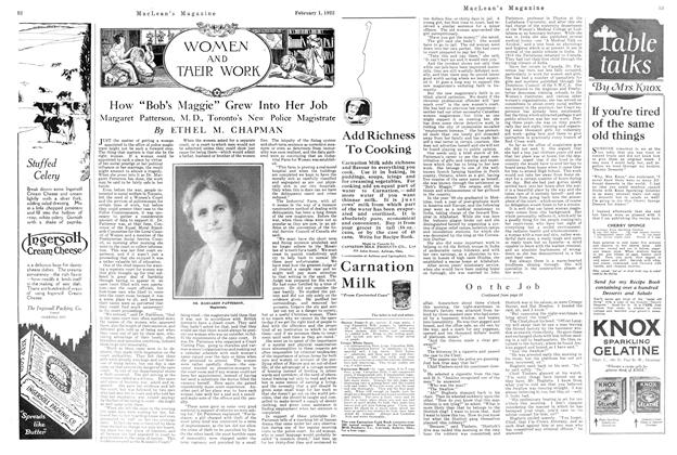 "Article Preview: How ""Bob's Maggie"" Grew Into Her Job, FEBRUARY 1ST 1922 1922 