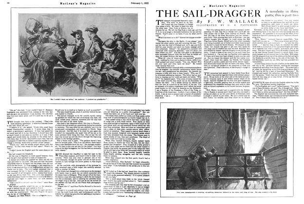 Article Preview: THE SAIL-DRAGGER, FEBRUARY 1ST 1922 1922 | Maclean's