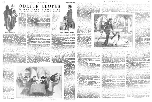 Article Preview: ODETTE ELOPES, FEBRUARY 1ST 1922 1922 | Maclean's