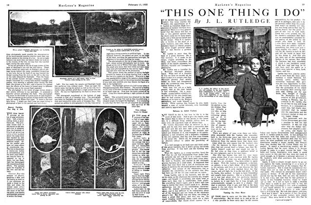 "Article Preview: ""THIS ONE THING I DO"", FEB. 15th, 1922 1922 