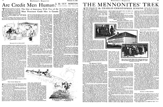 Article Preview: THE MENNONITES' TREK, FEB. 15th, 1922 1922 | Maclean's