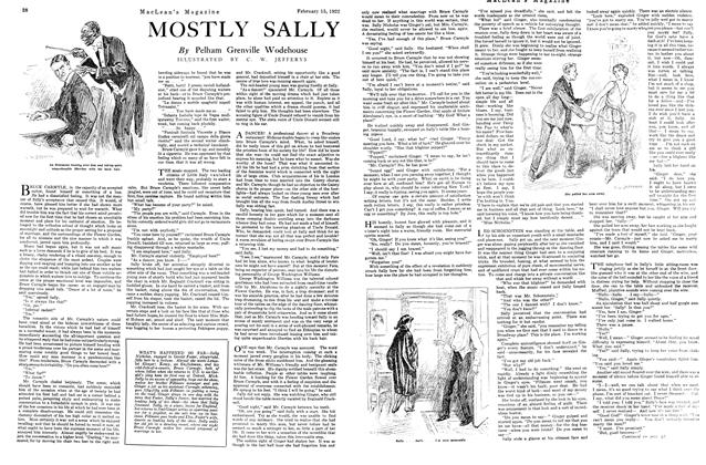 Article Preview: MOSTLY SALLY, FEB. 15th, 1922 1922 | Maclean's