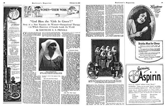 "Article Preview: ""God Bless the 'Girls In Green'!"", FEB. 15th, 1922 1922 