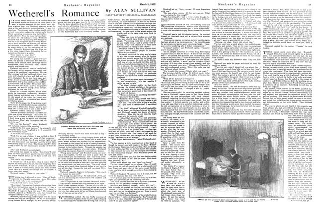 Article Preview: Wetherell's Romance, MARCH 1ST 1922 1922 | Maclean's