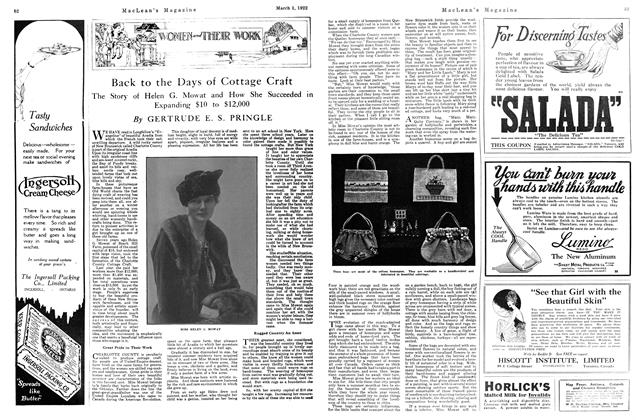 Article Preview: Back to the Days of Cottage Craft, MARCH 1ST 1922 1922 | Maclean's