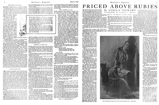 Article Preview: PRICED ABOVE RUBIES, MARCH 1ST 1922 1922 | Maclean's