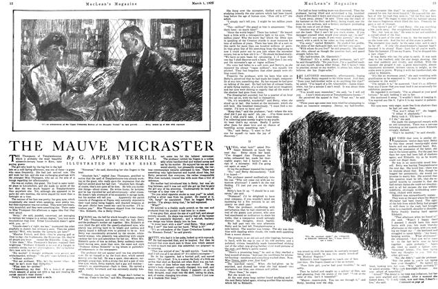 Article Preview: THE MAUVE MICRASTER, MARCH 1ST 1922 1922 | Maclean's