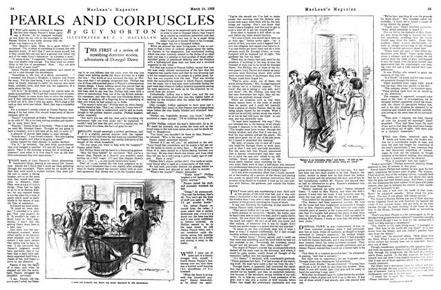 Article Preview: PEARLS AND CORPUSCLES, MARCH 15TH 1922 1922 | Maclean's