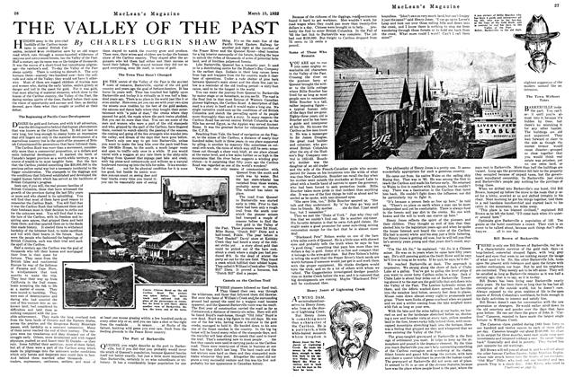 Article Preview: THE VALLEY OF THE PAST, MARCH 15TH 1922 1922 | Maclean's