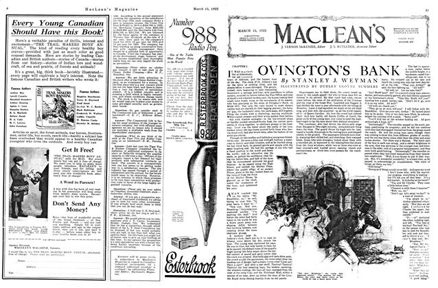 Article Preview: OVINGTON'S BANK, MARCH 15TH 1922 1922 | Maclean's