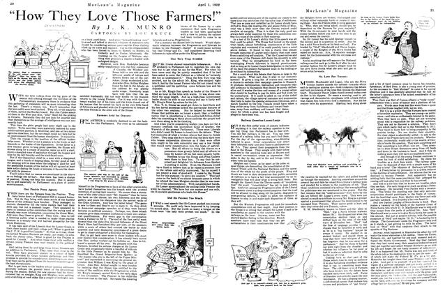 "Article Preview: ""How They Love Those Farmers!"", April 1922 
