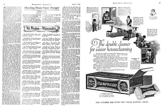 Article Preview: Howling From Sheer Hunger, April 1922 | Maclean's