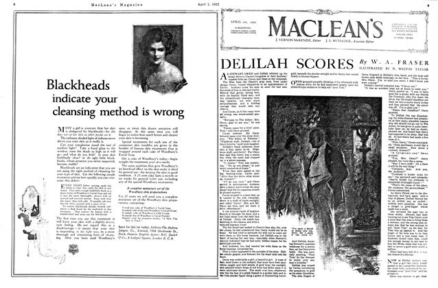 Article Preview: DELILAH SCORES, April 1922 | Maclean's