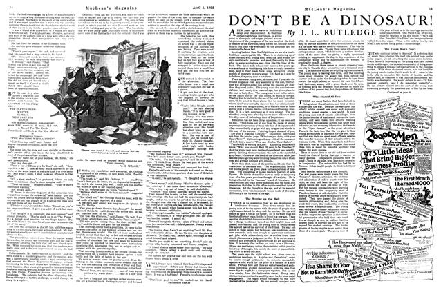 Article Preview: DON'T BE A DINOSAUR!, April 1922 | Maclean's