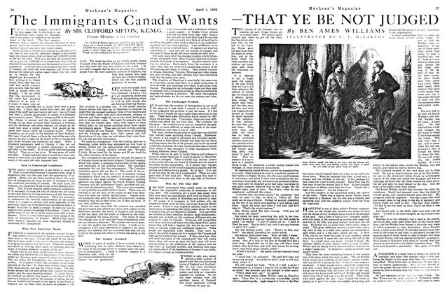 Article Preview: —THAT YE BE NOT JUDGED, April 1922 | Maclean's