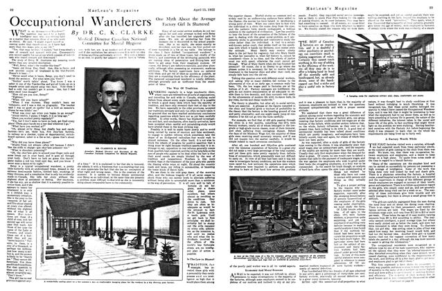 Article Preview: Occupational Wanderers, APRIL 15TH 1922 1922 | Maclean's