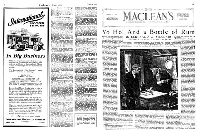 Article Preview: Yo Ho! And a Bottle of Rum, APRIL 15TH 1922 1922 | Maclean's