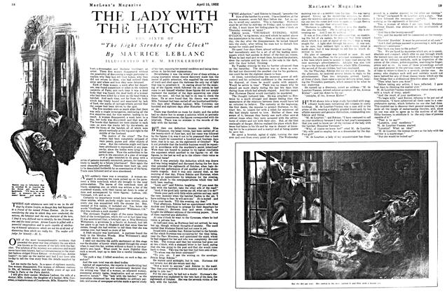 Article Preview: THE LADY WITH THE HATCHET, APRIL 15TH 1922 1922 | Maclean's