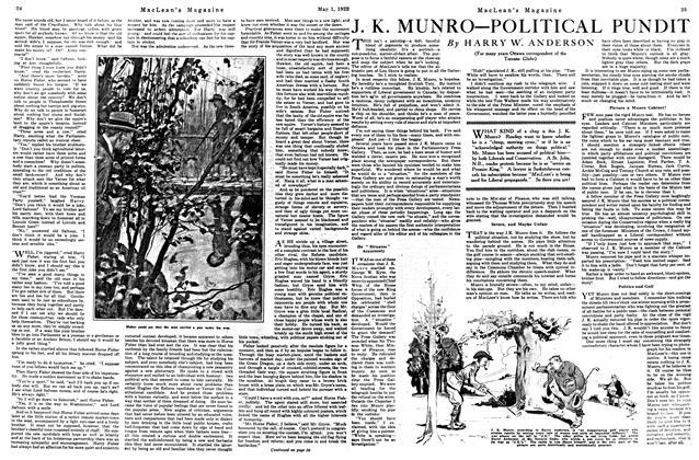 Article Preview: J. K. MUNRO—POLITICAL PUNDIT, May 1922 | Maclean's