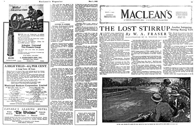 Article Preview: THE LOST STIRRUP, May 1922 | Maclean's