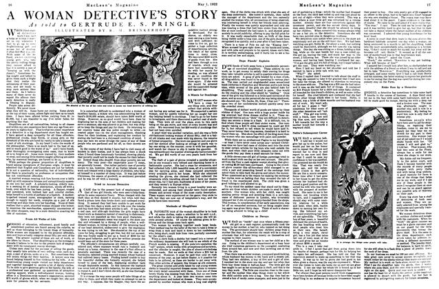 Article Preview: WOMAN DETECTIVE'S STORY, May 1922 | Maclean's