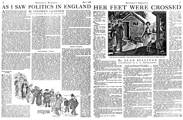 Article Preview: HER FEET WERE CROSSED, May 1922 | Maclean's