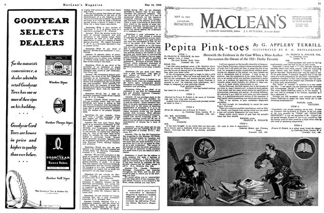 Article Preview: Pepita Pink-toes, MAY 15,1922 1922 | Maclean's