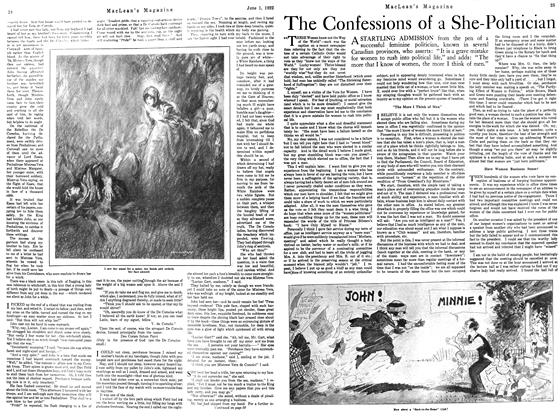 Article Preview: The Confessions of a She-Politician, June 1922 | Maclean's