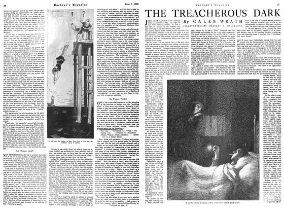 Article Preview: THE TREACHEROUS DARK, June 1922 | Maclean's