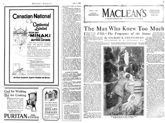 Article Preview: The Man Who Knew Too Much, June 1922 | Maclean's