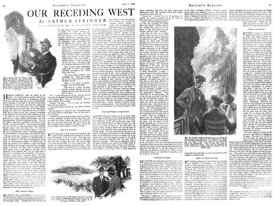 Article Preview: OUR RECEDING WEST, June 1922 | Maclean's
