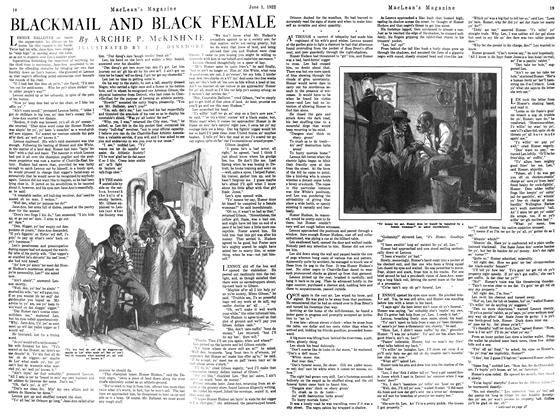 Article Preview: BLACKMAIL AND BLACK FEMALE, June 1922 | Maclean's
