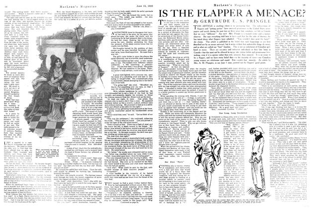 Article Preview: IS THE FLAPPER A MENACE?, June 1922 | Maclean's