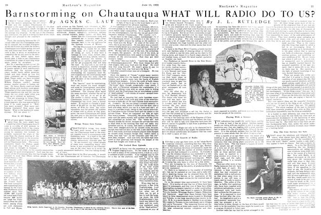 Article Preview: Barnstorming on Chautauqua, June 1922 | Maclean's