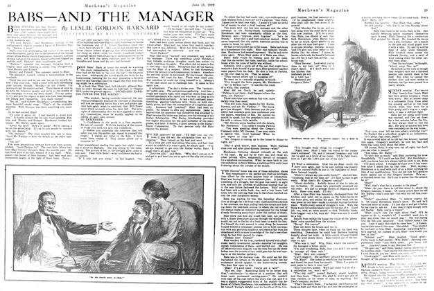 Article Preview: BABS—AND THE MANAGER, June 1922 | Maclean's